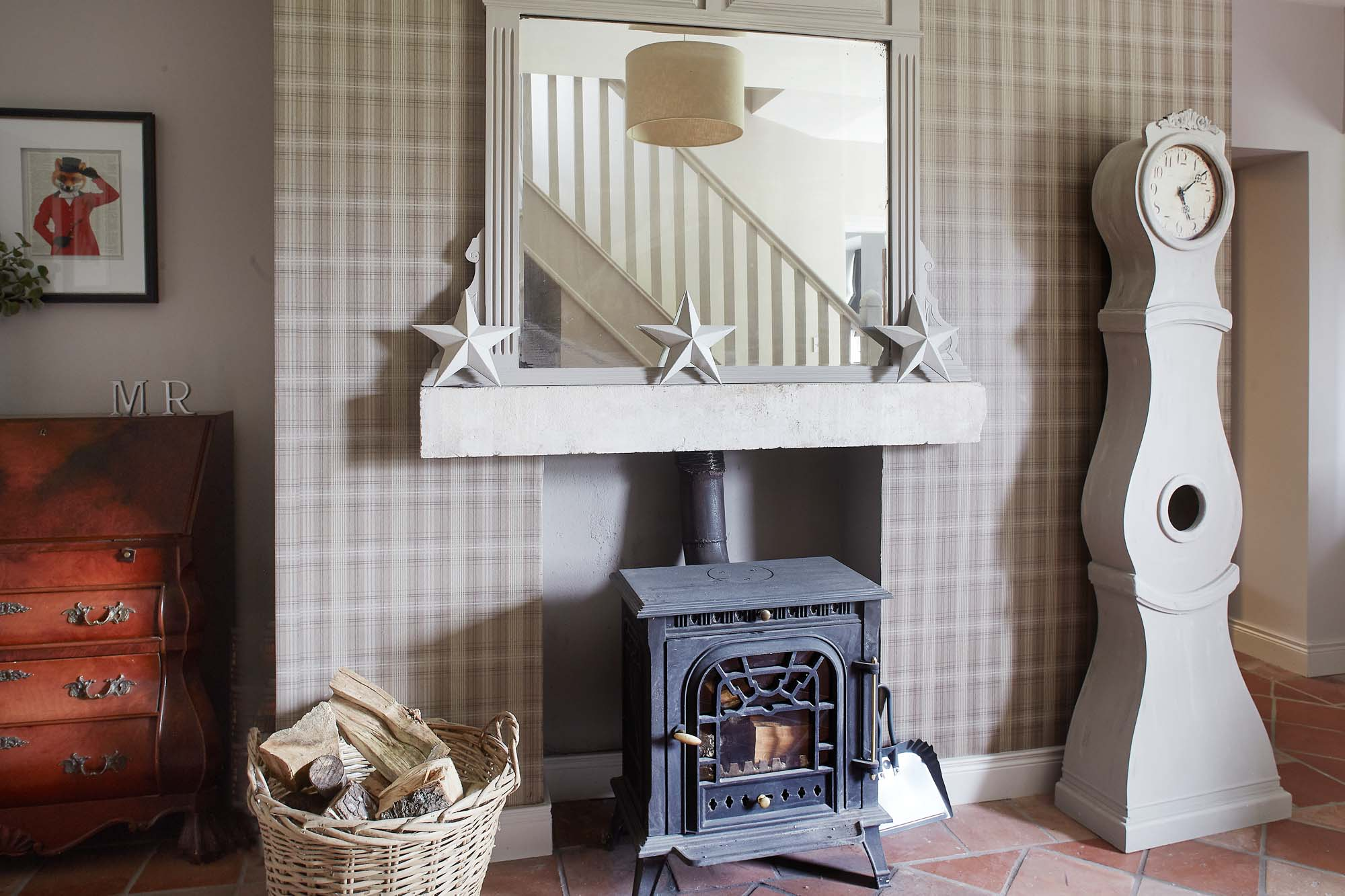 Cosy country bed and breakfast with woodburning stoves.