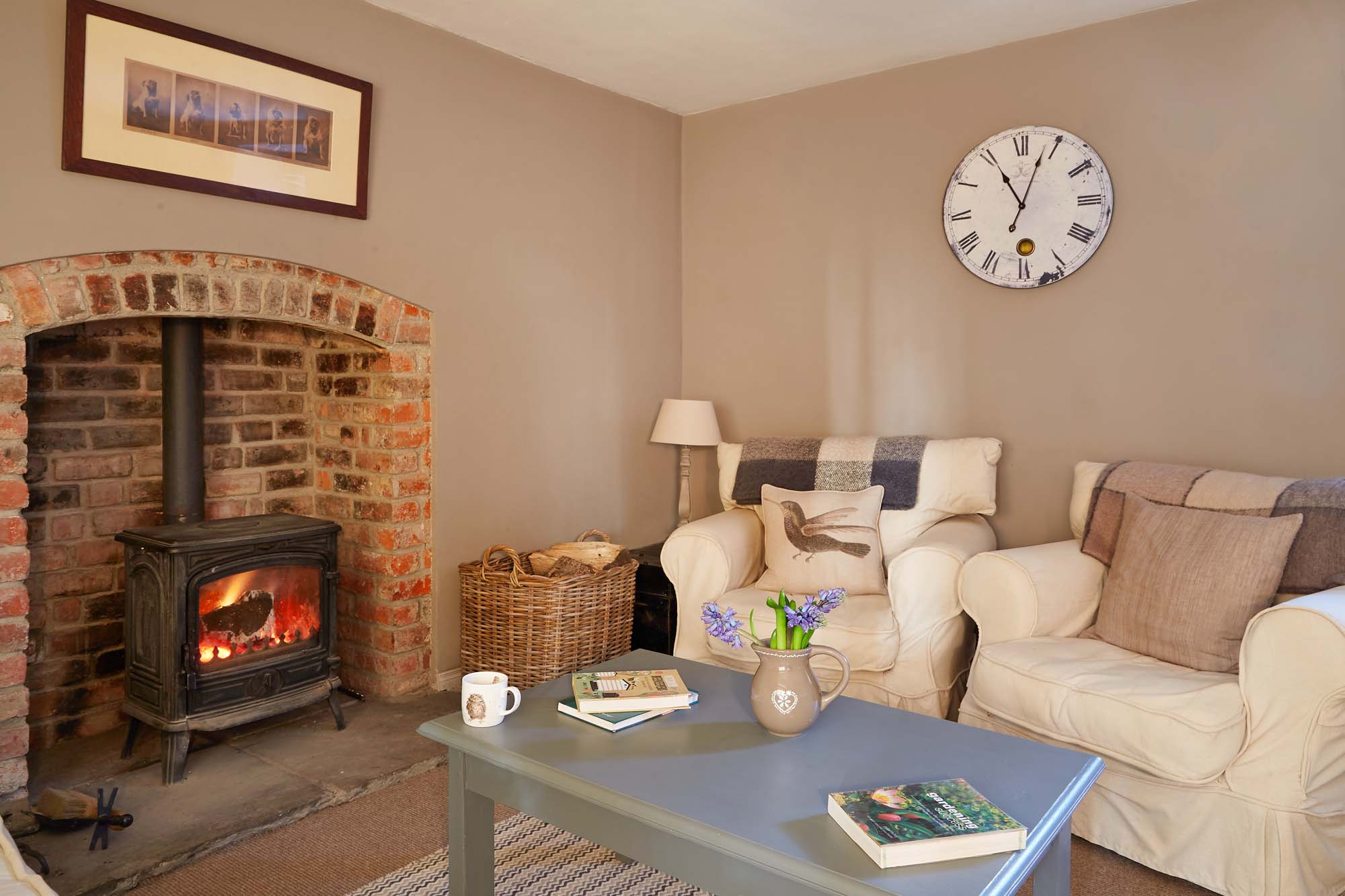Cosy woodburning stove in cottage accomodation near Castle Bellingham Co Louth